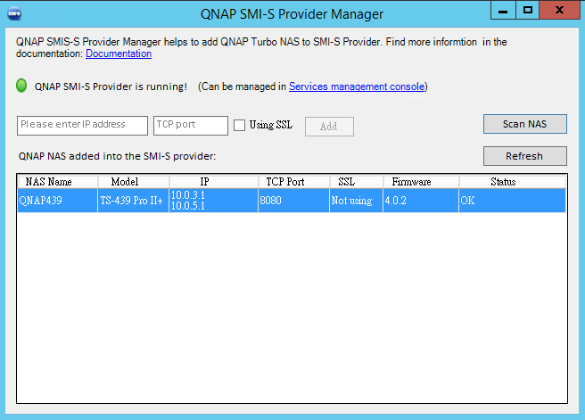 QNAP SMI-S Provider für SC2012 SP1/R2 Virtual Machine Manager