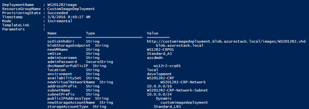 Microsoft Azure Stack – Deploying your own images as a