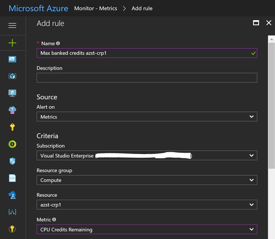 Monitoring Azure B-series VM banked credits - Daniel's Tech Blog