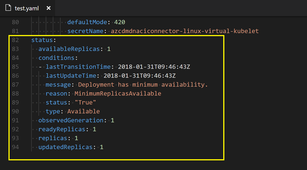 Deploying the Kubernetes ACI connector on Kubernetes on Docker for