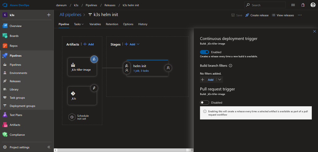 Installing Helm and Azure IoT Edge on a k3s Kubernetes cluster on