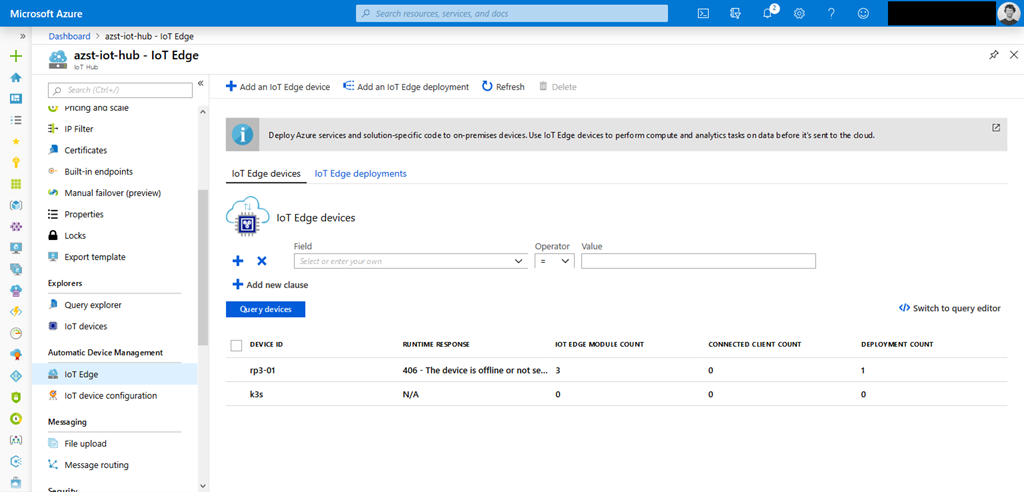 Installing Helm and Azure IoT Edge on a k3s Kubernetes