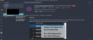 VS Code AKS extension