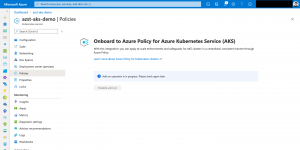 Enable Azure Policy add-on on AKS