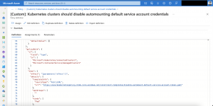 Azure portal custom policy