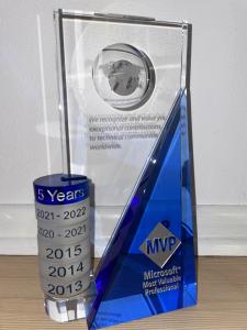 MVP Award trophy